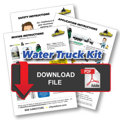 Water Truck Kit Application Instructions