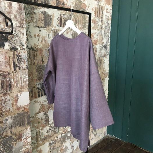 блуза балахон шерсть/вискоза
