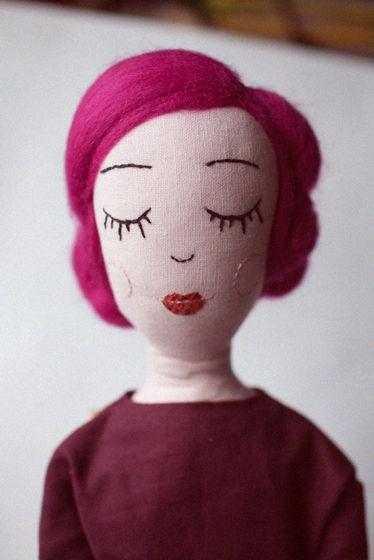 Текстильная кукла Cherry