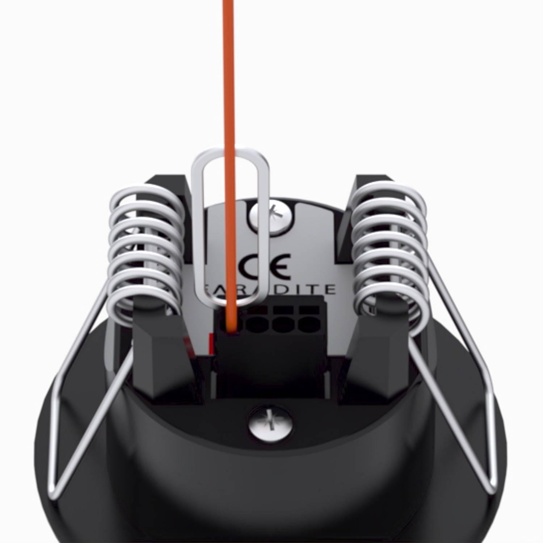 Faradite Volt Free motion sensor push fit terminals dry contact potential free Control4 Lutron Rako Crestron black motion sensor