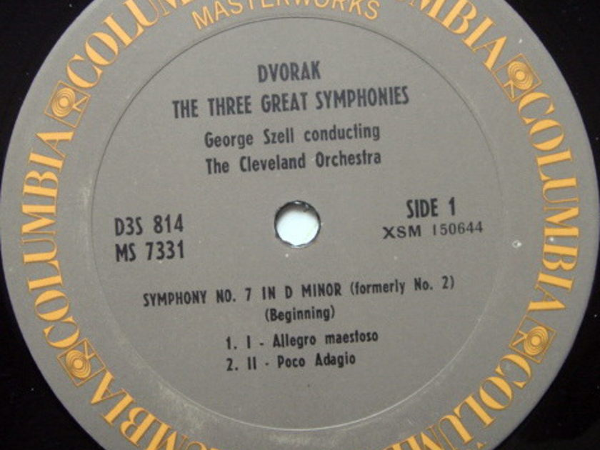 Columbia / GEORGE SZELL,  - Dvorak The Three Great Symphonies No.7 to No.9, MINT, 3LP Box Set!