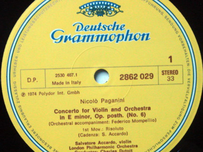 DG / ACCCARDO-DUTOIT, - Paganini Six Violin Concertos, NM, 5LP Box Set!