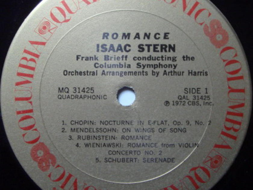 ★Audiophile★ Columbia Quadraphonic / ISAAC STERN, - Romance-Favorite Melodies for the Quiet Hours, MINT!