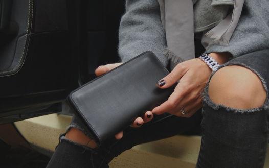 Кожаное черное портмоне Classic Black