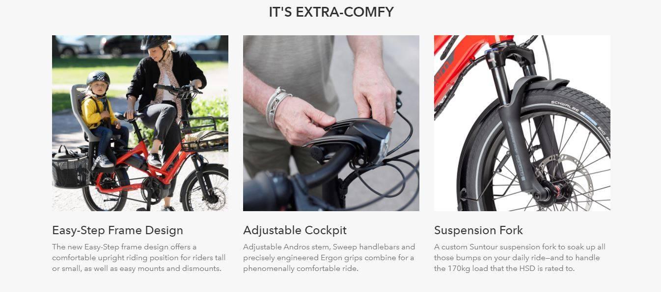Tern HSP P9 Cargo Bike - Extra comfy