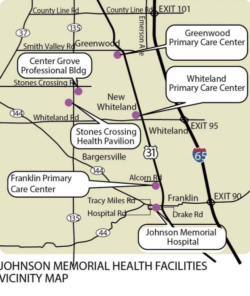 Johnson Memorial Health Facilities Vicinity Map