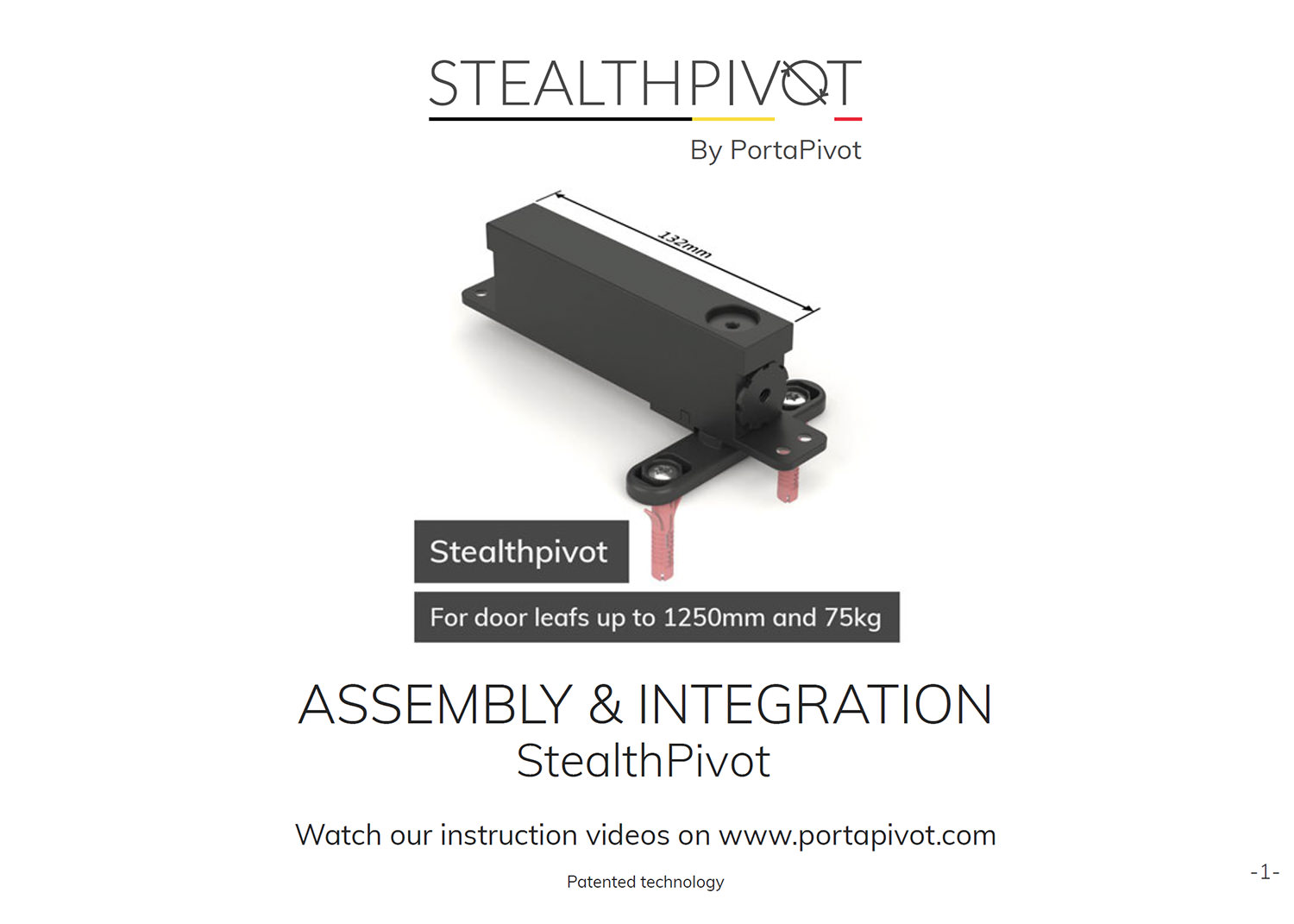 Stealth pivot normal assembly and installation manual