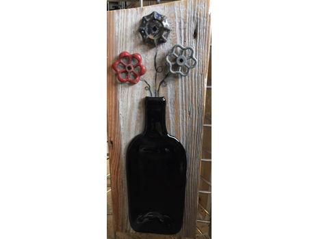 Folk Art - Bottle and Antique Faucet Knob