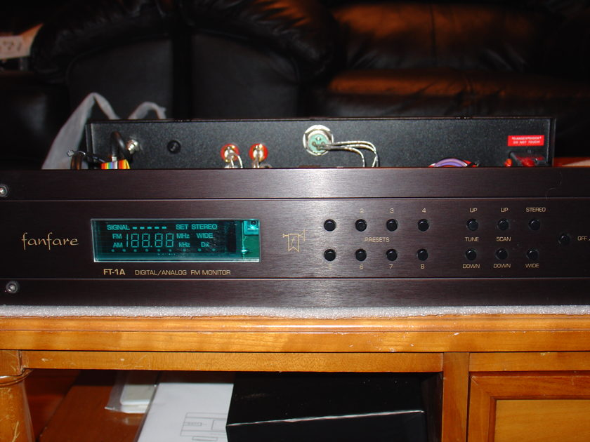 Fanfare  FT-1A with Kimber and WBT upgrades rack mount faceplate