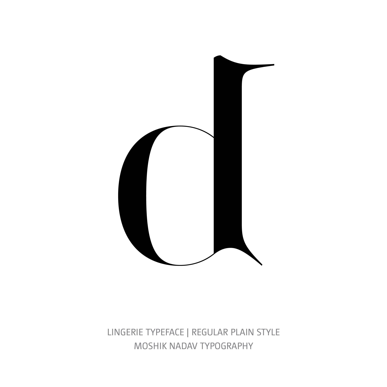Lingerie Typeface Regular Plain d