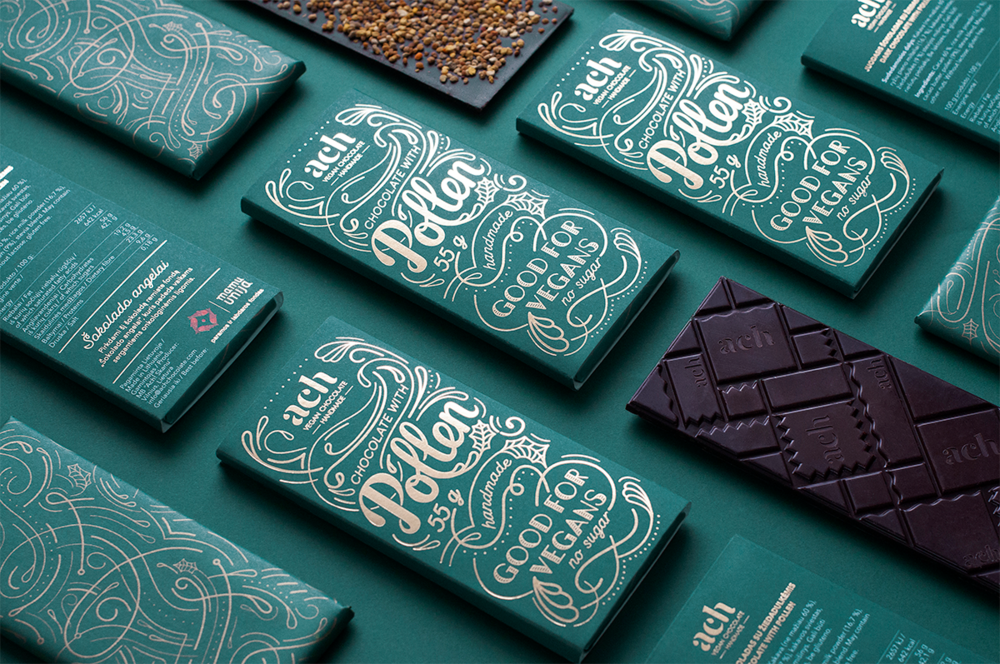 Gorgeous Vegan Chocolate Packaging Dieline