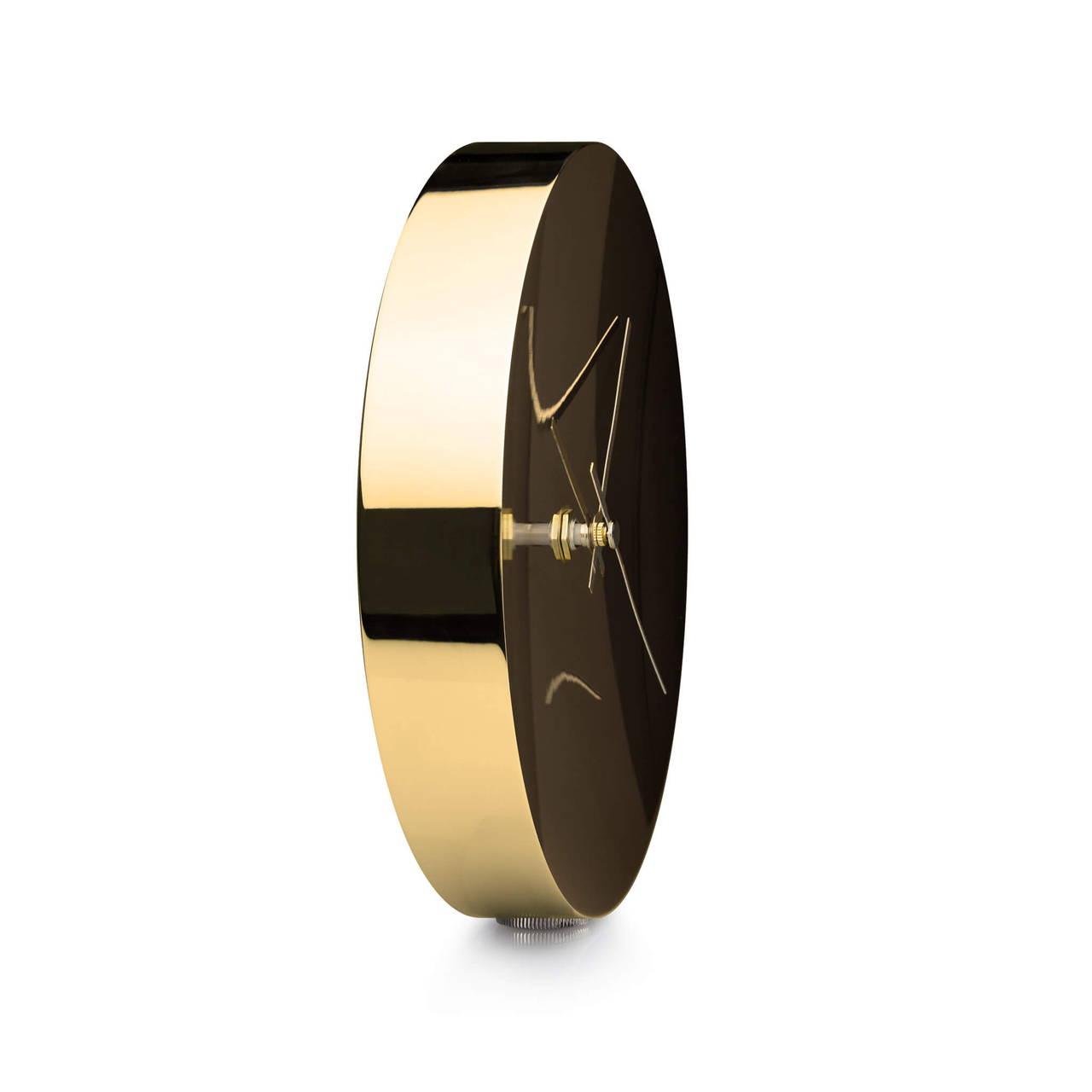 Clock in Gold finish