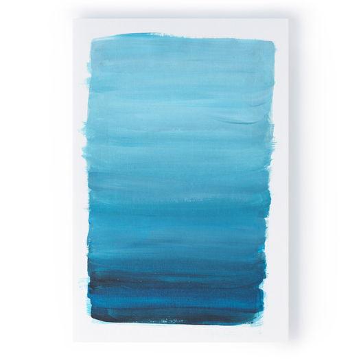 Картина Синий градиент, 40x60 см