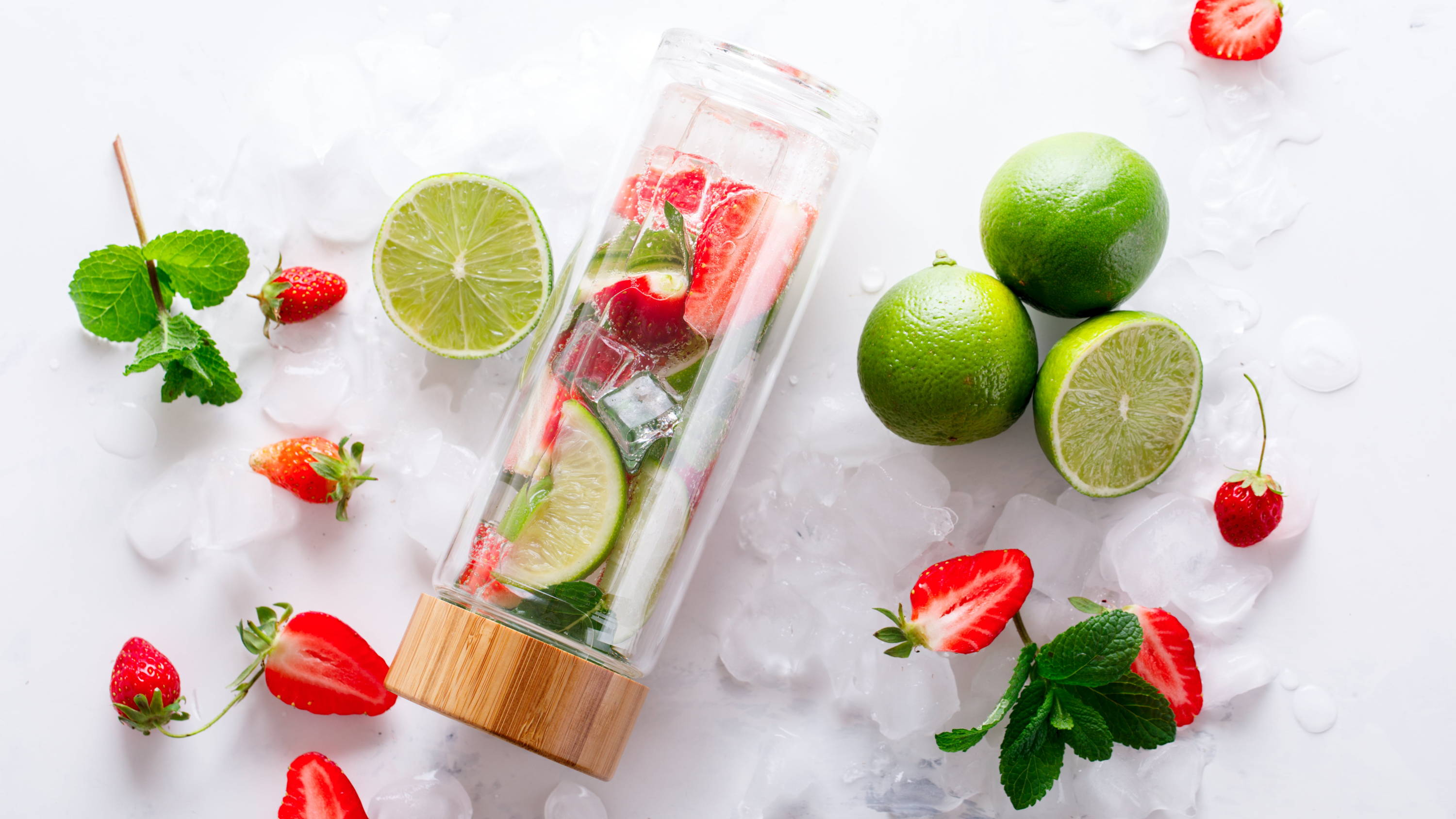 Strawberry, Lime and Mint Water