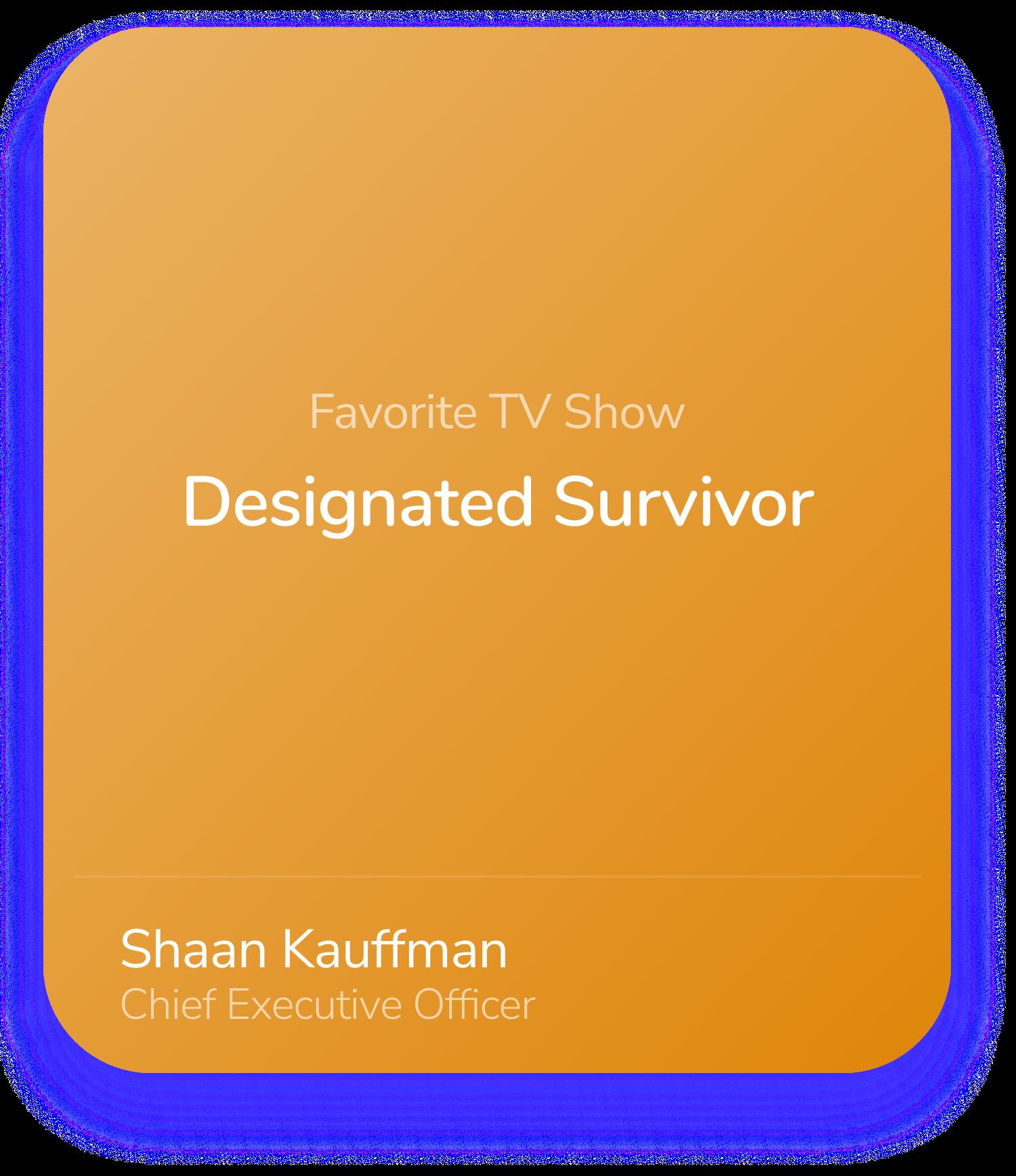 Shaan Kauffman CEO