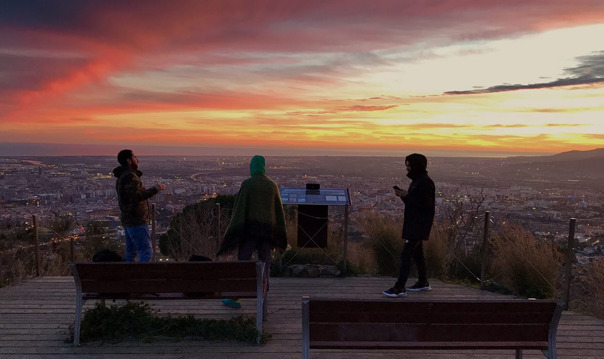 The best sunset in Barcelona
