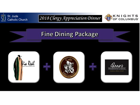 Fine Dining Package-Via Real & Cafe Intermezzo & Perrys