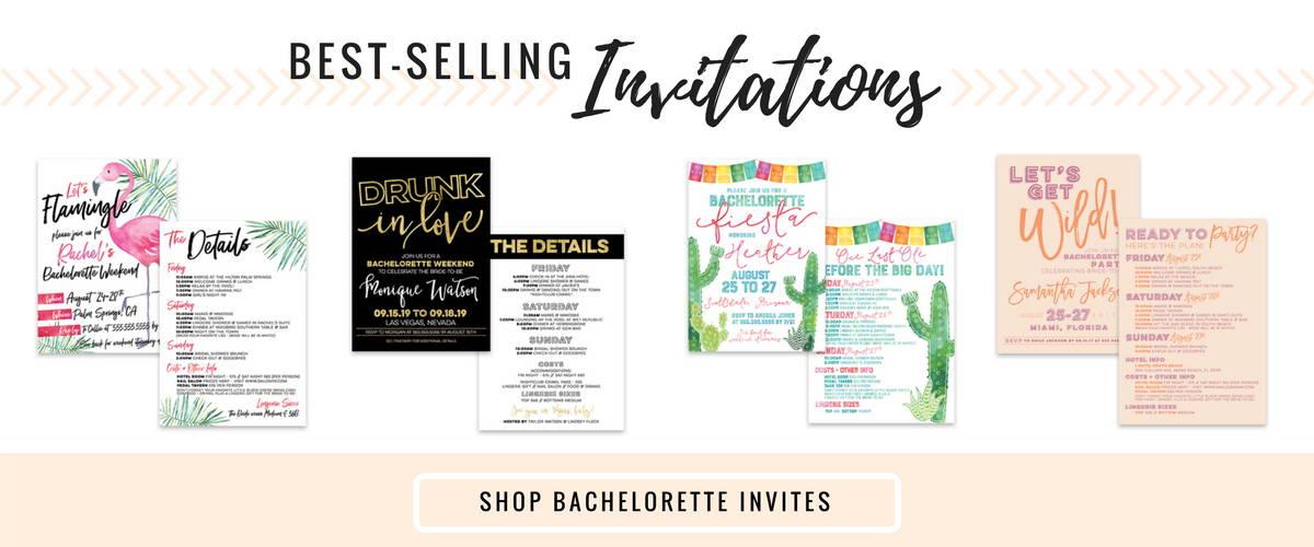 bachelorette party invitations, drunk in love, flamingle invitation, final fiesta invitation