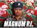 Magnum PI Large Crew Shirt, full cast autographed photo