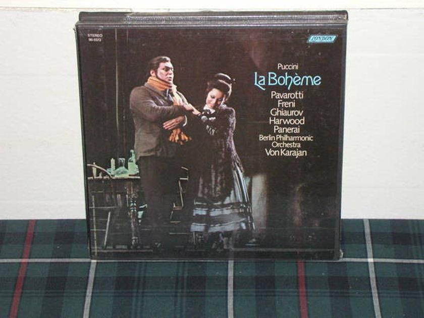 Pavarotti/Vk/BPO - Puccini/La Boheme London SEALED LP <TAS>