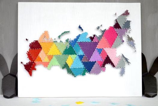 Самая яркая Карта России string art