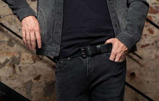 Мужской ремень для джинс, модель New York