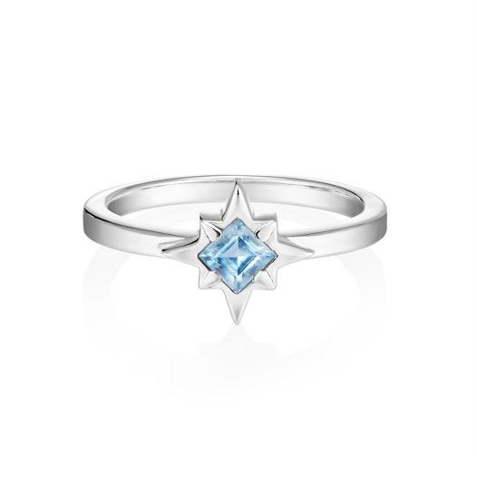 Кольцо STARDUST - Голубой топаз