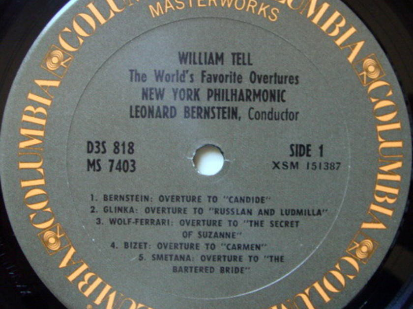 Columbia / LEONARD BERNSTEIN,  - Rossini William Tell and other Famous Overtures, MINT, 3LP Box Set!