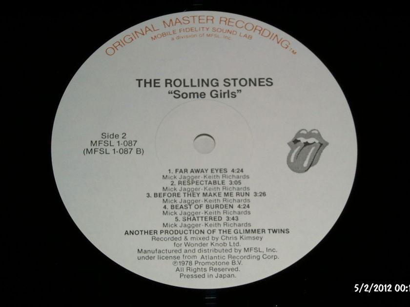 Rolling Stones - Some Girls Mobile Fidelity Vinyl mfsl audiophile vinyl lp nm