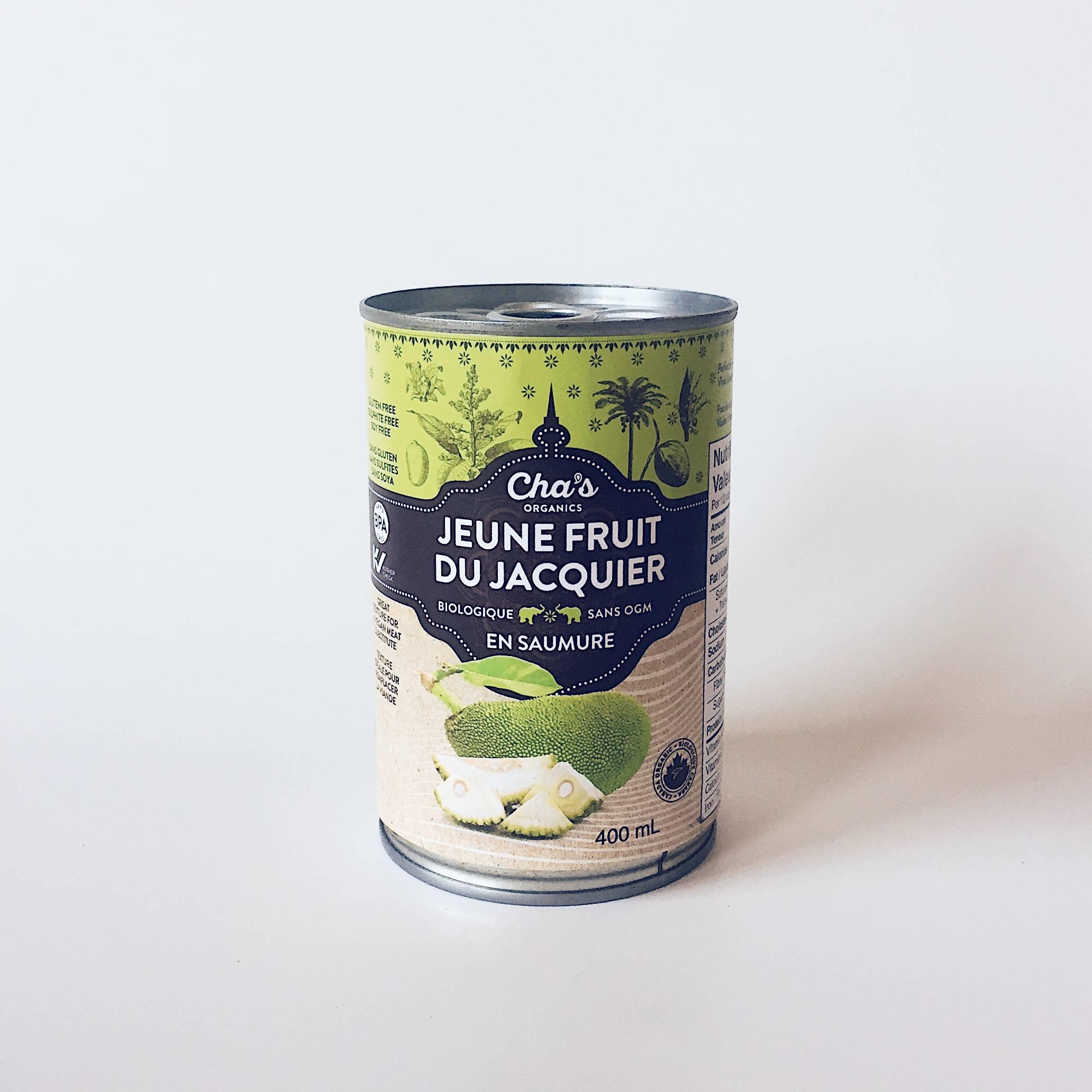 jackfruit jeune fruit du jacquier chas organics porc effiloché végé