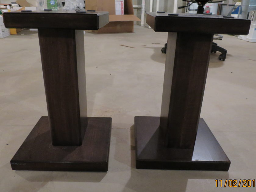 TimberNation speaker stands solid maple