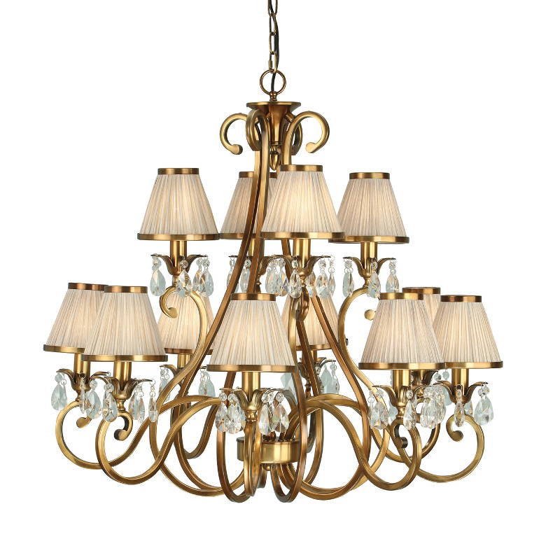 Oksana Brushed Brass Chandeliers