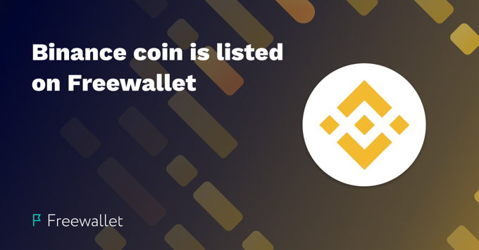Freewallet has listed Binance coin to Crypto Wallet