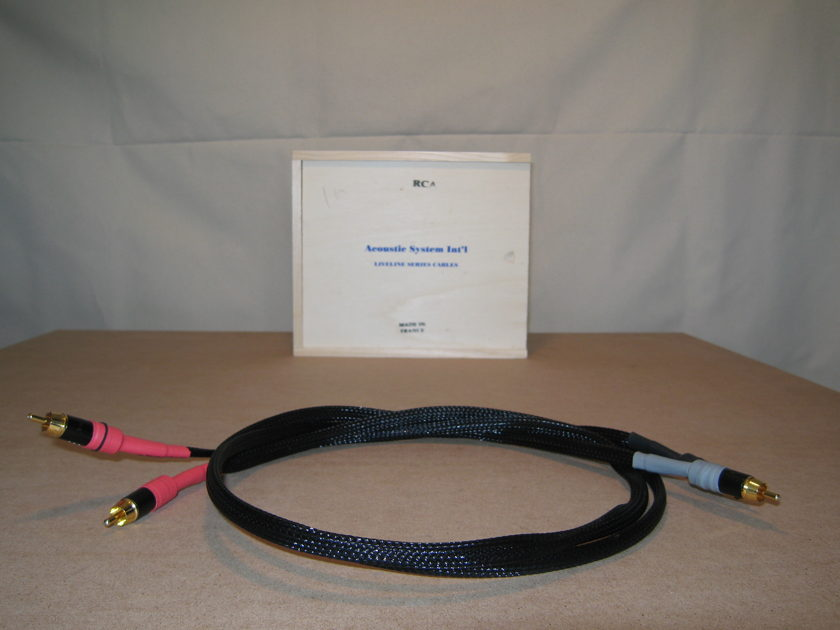 ASI Liveline RCA Interconnects - 1 meter