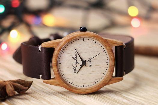 Деревянные часы, женские наручные часы, бук