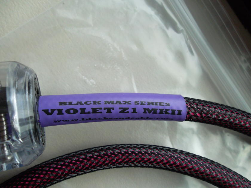 BLACK SAND CABLE Violet Z1 MKII 1 meter BRAND NEW !!!!!