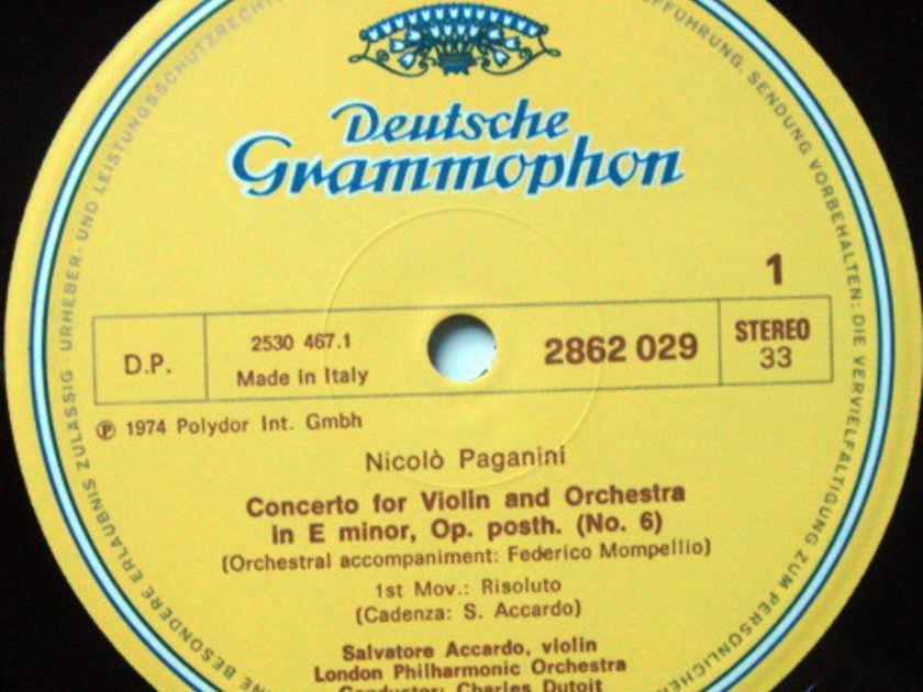 DG / ACCCARDO-DUTOIT, - Paganini Six Violin Concertos, MINT, 5LP Box Set!