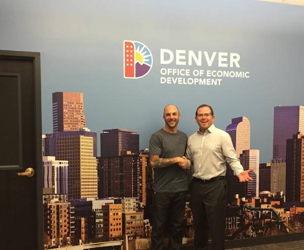 Interior Vinyl Wall Wrap -  Denver Office of Economic Development