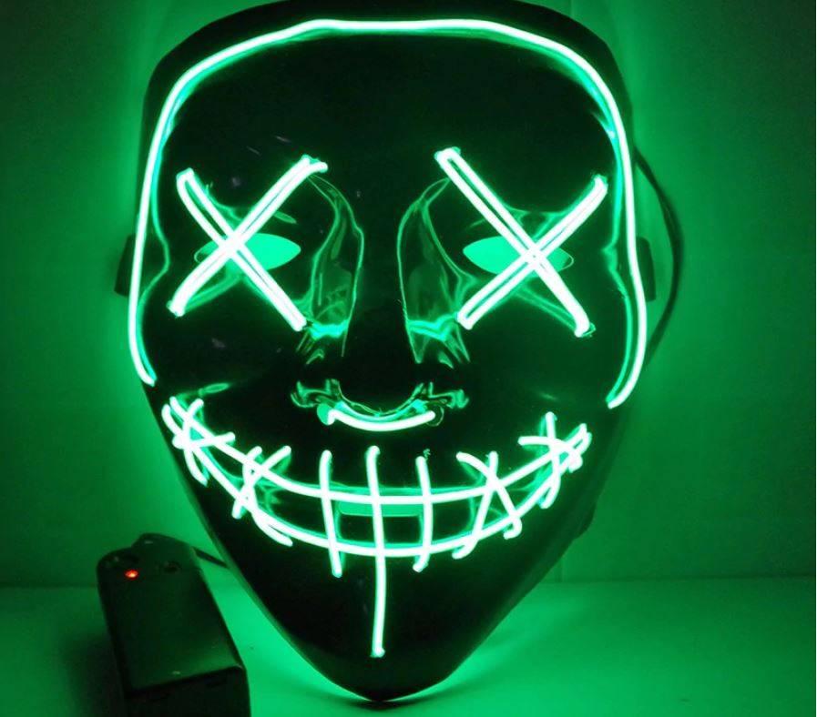 Masque d'Halloween à led Vert