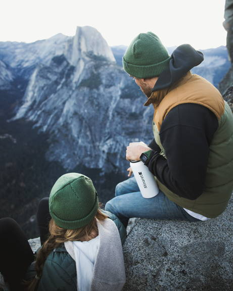 Pine Green Beanie for Winter Traveling