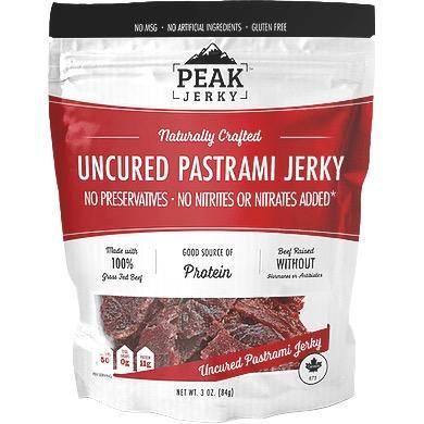 Peak Jerky Pastrami Beef Jerky Zero Carbs