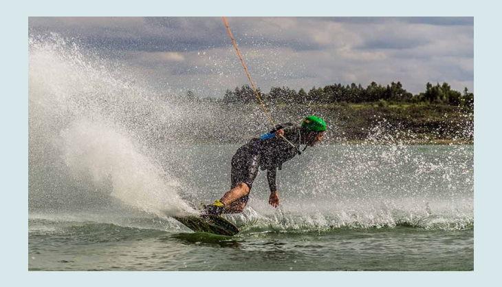 wake beach wakeboard fahren