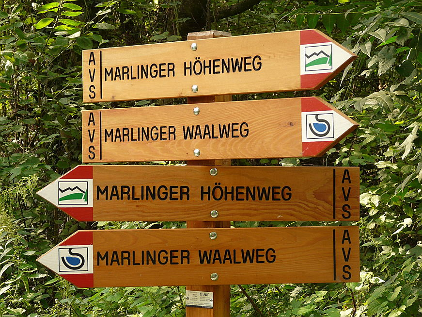 Merano - Waalweg trails are typical for the area around Merano