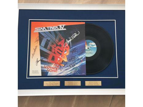 Star Trek IV Autographed Movie Soundtrack Record