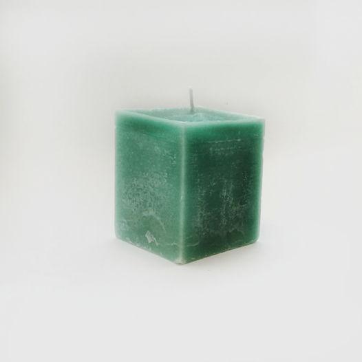 """Интерьерная свеча, куб 9 см. Коллекция """"Фактура"""""""