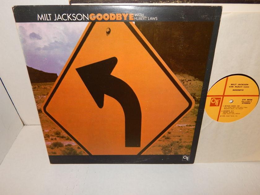 MILT JACKSON GOODBYE With Hubert Laws - Cobham Gadd Hancock  & Cedar Walton CTI Jazz LP