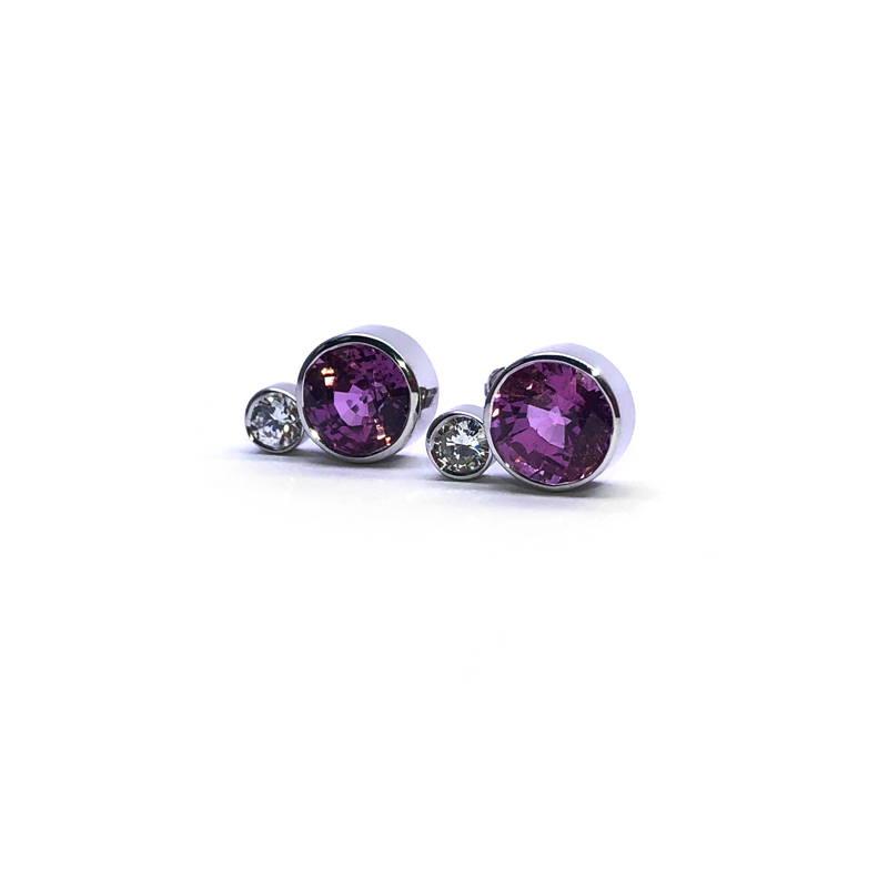 earrings in pink sapphire earrings