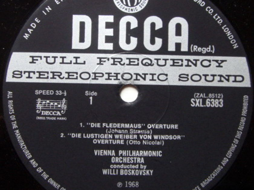 DECCA SXL-WB-ED3 / BOSKOWSKI, - Overtures of Old Vienna, NM-!