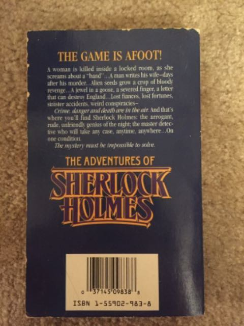 RENTERS BAY: The Adventures of Sherlock Holmes book