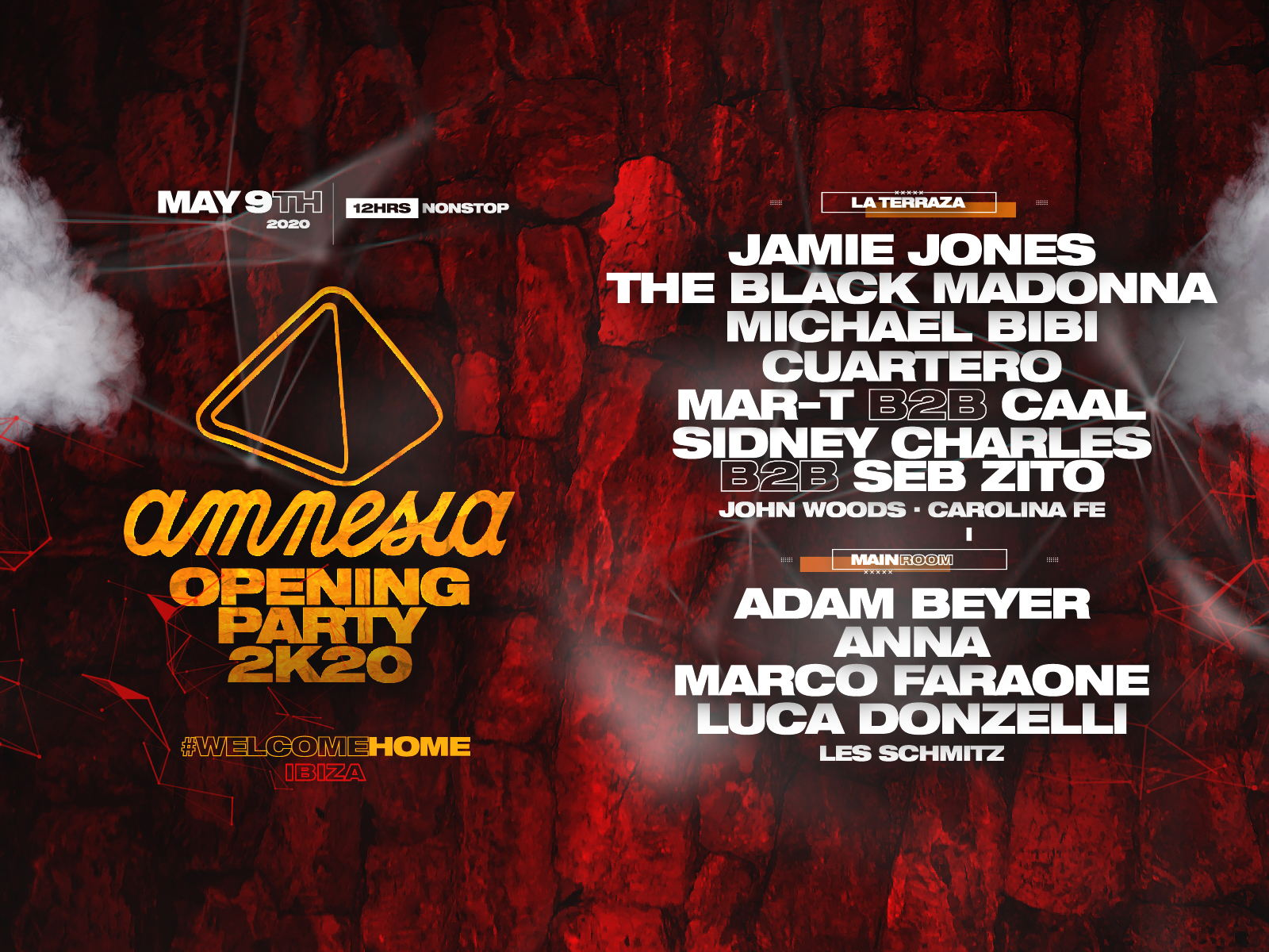 Amnesia opening party 2020 lineup announced